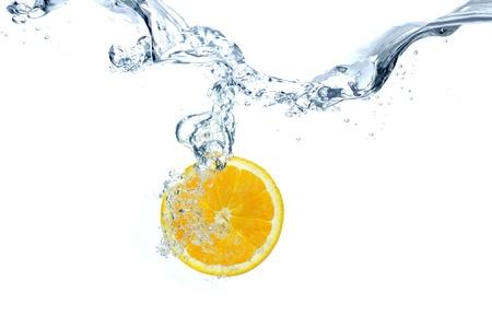 ondulation: Sous l'eau d'orange Banque d'images