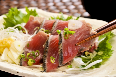 Chopped bonito Stock Photo