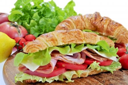 クロワッサンのイタリア風サンドイッチ 写真素材