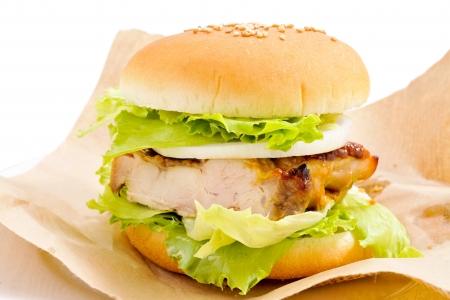 sandwich de pollo: Chicken burger