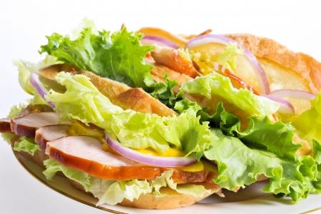 ロースト チキンのサンドイッチ 写真素材