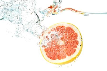 水中グレープ フルーツ 写真素材