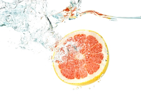 Underwater grapefruit Stock Photo