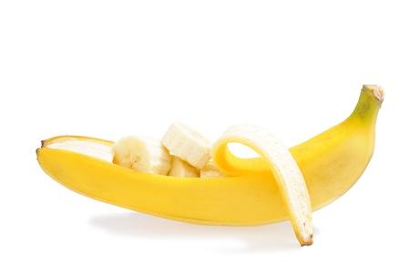 banana skin: Banana Stock Photo