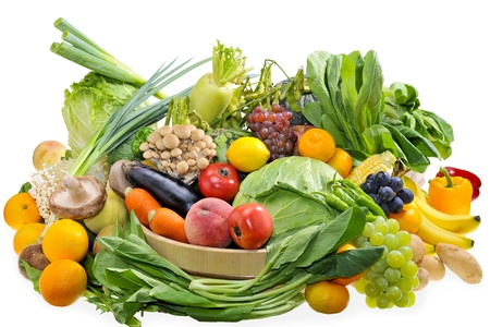 fresh fruits: Assortment of the vegetables and fruits