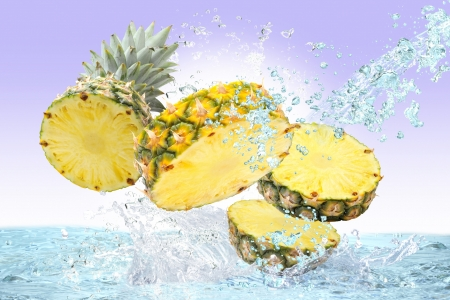 Pineapple and water Stock Photo - 16185264
