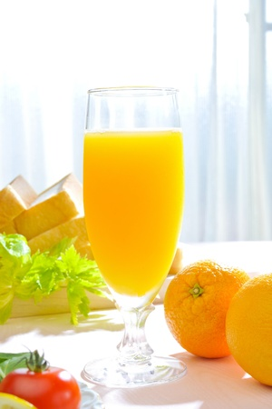 Orange juice in the morning