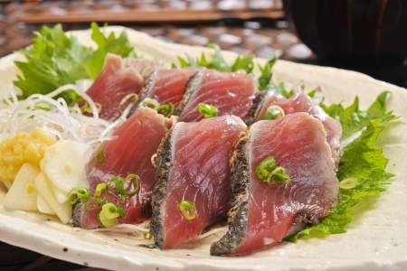 Raw fresh red bonito