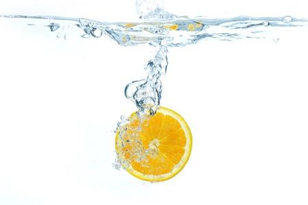 オレンジ スプラッシュ水 写真素材