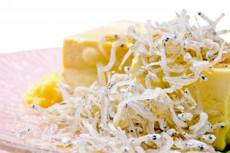 Hiyayakko the Japanese healthy tofu dish Stock Photo - 16481022