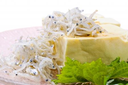 Hiyayakko the Japanese healthy tofu dish Stock Photo - 16481006