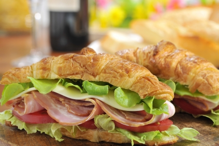 Italian sandwich of the croissant
