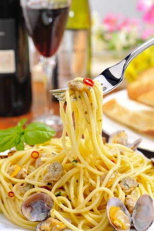 fishery products: Spaghetti of fishery products Stock Photo
