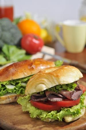 ロースト ビーフのサンドイッチ