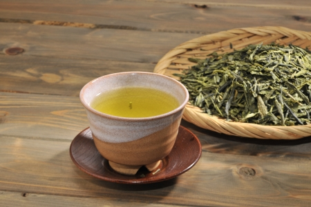 fortunetelling: Green tea Stock Photo