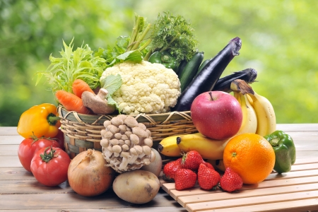 Fresh vegetables and Fruit