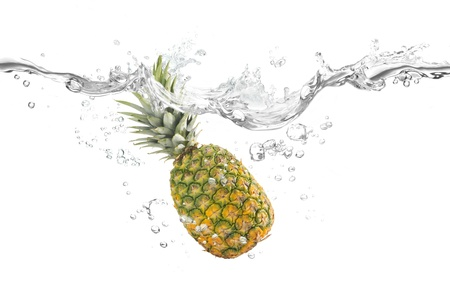 Pineapple and water Stock Photo - 18911343