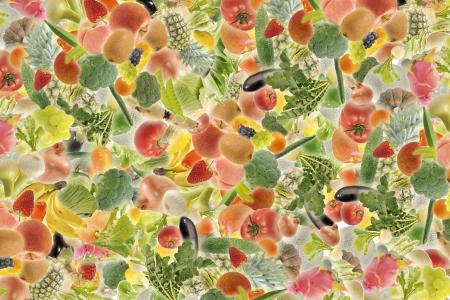 果物や野菜のパターン
