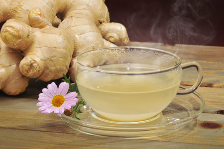 ginger hot water Stock Photo