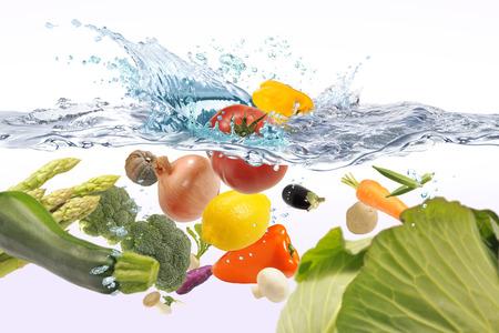 Groenten in het water Stockfoto