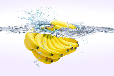 水の中のバナナ