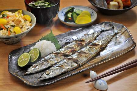 grilled fish: grilled fish Stock Photo