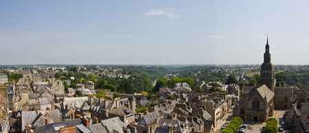 Dinan town panorama, France Stock Photo - 14217667