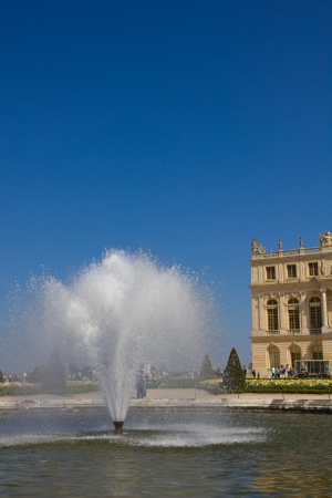 Fountain in the Versailles garden photo