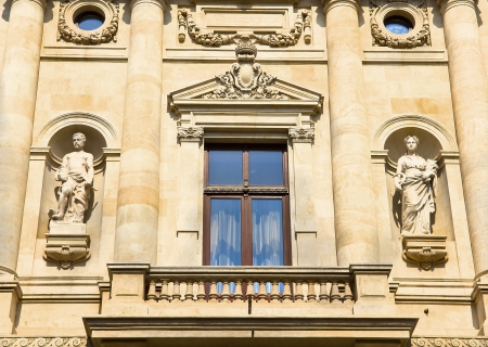 Historic building facade - Bucharest Stock Photo
