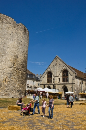 Compiegne, France, - May 21, 2011: Medieval Market and Feast at the Joan of Arc festival