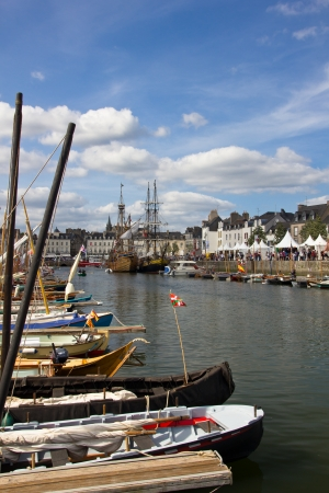 Vannes, Brittany, France - June 01, 2011: The Week of the Morbihan Gulf Festival Editorial