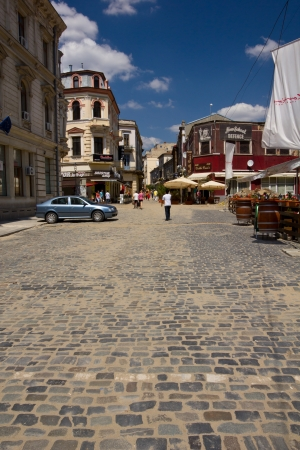 Lipscani street, Bucharest: Entrance to the historic old town center Stock Photo - 14681676