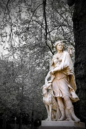 Statue of Artemis goddess in the park Stock Photo