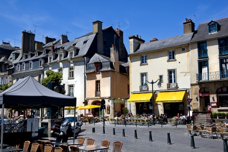 Square in the charming Rennes, Brittany (Bretagne), France, in his old town center Stock Photo - 14833731