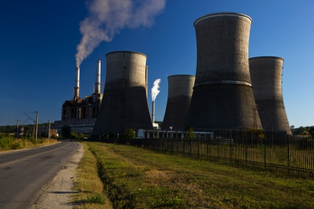Big pollution source  the coal power stations Stock Photo - 15807773