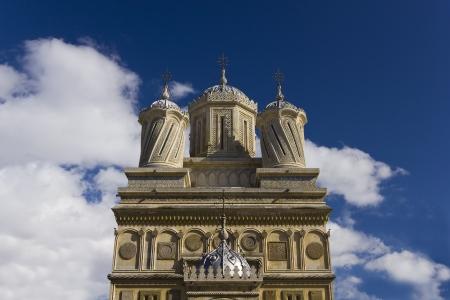 Facade of Curtea de Arges Monastery, Muntenia region, Romania