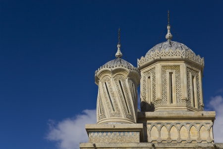 Towers of the Curtea de Arges Monastery Stock Photo - 15942960