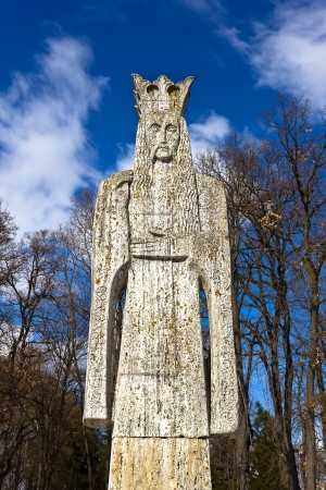 Neagoe Basarab sculpture - medieval romanian lord Stock Photo - 16377494