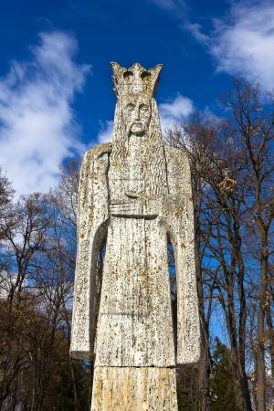 Neagoe Basarab sculpture - medieval romanian lord Stock Photo - 16377494