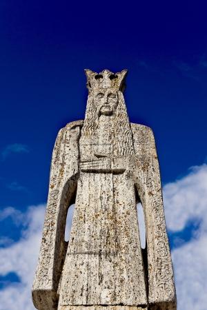 Neagoe Basarab sculpture - medieval romanian lord Editorial
