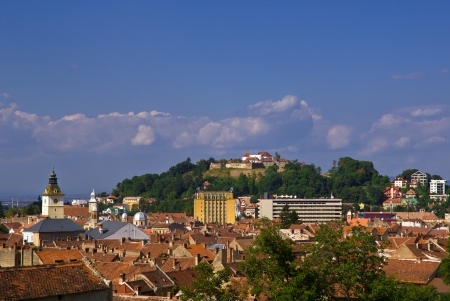 cetatuia: Brasov view with the Citadel Stock Photo