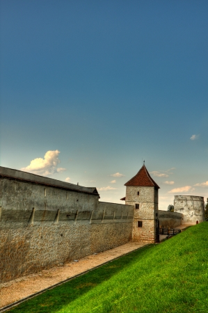 Section of the ancient defensive walls of the medieval fortress of Brasov in Transylvania, Romania Stock Photo - 16971088