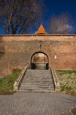 Old city wall of Sibiu city, Transylvania, Romania Stock Photo - 17061849