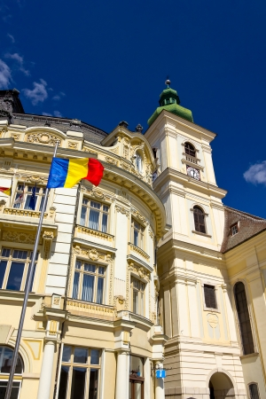 Historic buildings of Sibiu old town center Stock Photo - 18535236