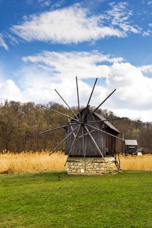 Romanian traditional windmill Stock Photo - 18529622