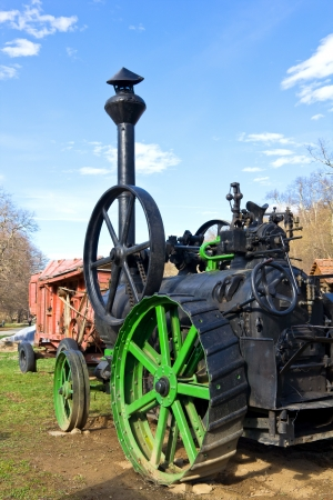M�quina de vapor antigua Foto de archivo - 18716236