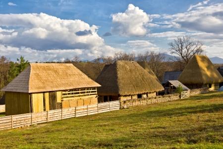 Romanian traditional village Stock Photo - 19431880