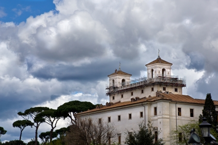 Villa Medici, the location of the French Academy in Rome Italy Editorial