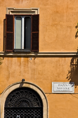 Navona Square inscription in Rome Italy