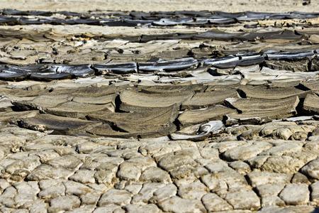 Dry rivers of mud from Mud Volcanoes Buzau Romania